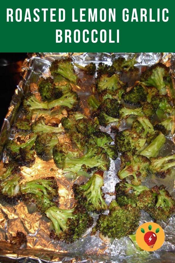 Roasted Lemon Garlic Broccoli. Easy 25-minute recipe. You know you want some. #roastedlemongarlicbroccoli #broccoli #broccolirecipes #roastedvegetables #recipes #glutenfree #health #recipeideashop