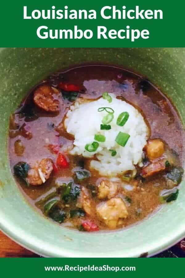 Louisiana Chicken Gumbo Recipe. OMG. So good. #chickengumbo #rainy-day-recipes #recipe-repertoire #glutenfree #recipes #gumbo #recipeideashop