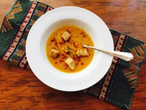 Carrot Cauliflower Lemon Thyme Soup