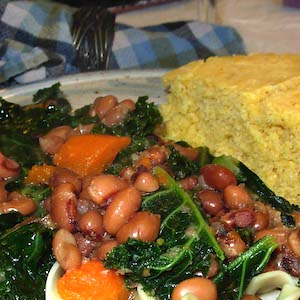 Black Eyed Peas and Kale