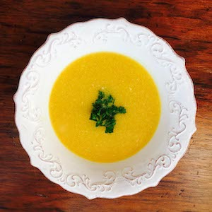 Butternut Squash Soup (Vegan, Gluten Free), thickened with potato
