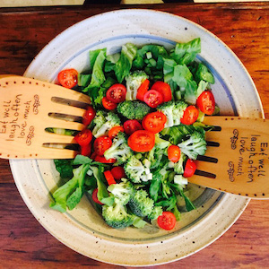 Green Salad with tomatoes, broccoli, lettuce