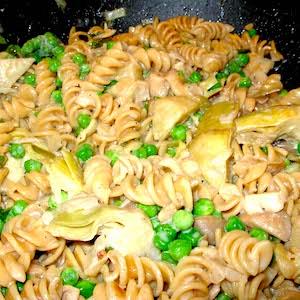 Mushroom Artichoke Marsala, so good.