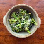 Roasted Lemon Garlic Broccoli is good hot or at room temperature.