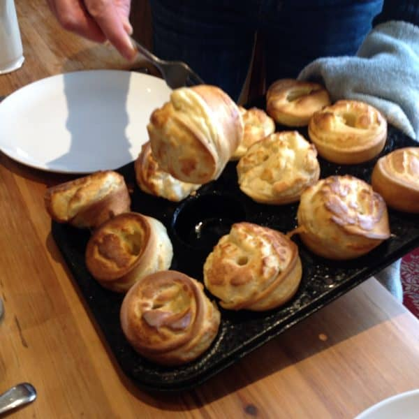 Traditional British Yorkshire Pudding. Photo by Kate Dight.