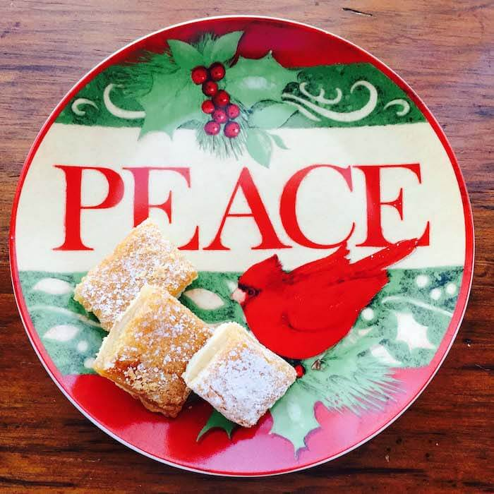 Lemon Squares Bar Cookies make a great holiday cookie.