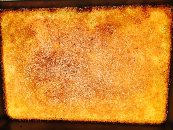 Second Layer: Lemon Squares after baking