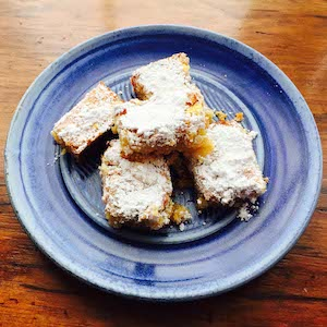 Gluten free lemon squares are so good.