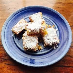 Gluten free lemon squares are so good.