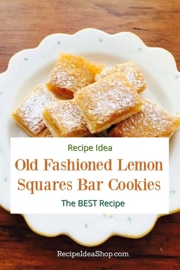 Momma Betty's Lemon Squares Bar Cookies are the best, whether you use wheat flour or gluten free flour. #lemonsquares #lemonsquarescookies #lemonsquaresbarcookies #cookierecipes #christmascookies #recipes #comfortfood #recipeideashop