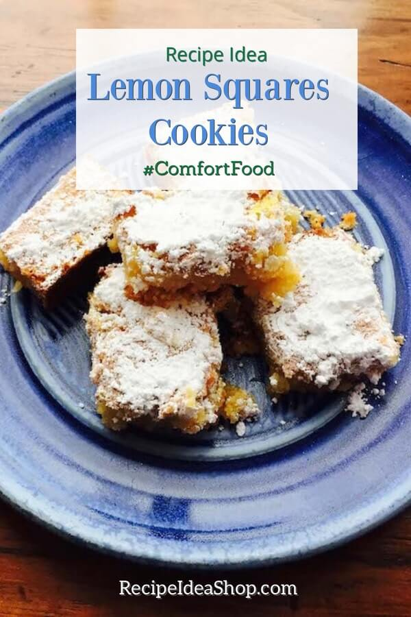 Gluten Free Lemon Squares Cookies. OMG. Lemony. Sweet. Tang. #glutenfreelemonsquarescookies #lemonsquares #cookierecipes #christmascookies #glutenfree #comfortfood #recipes #recipeideashop