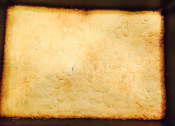 Shortbread cookie crust