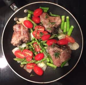 Lamb Asparagus Supper
