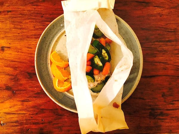 South Beach Chicken en Papillote (Chicken in Paper)