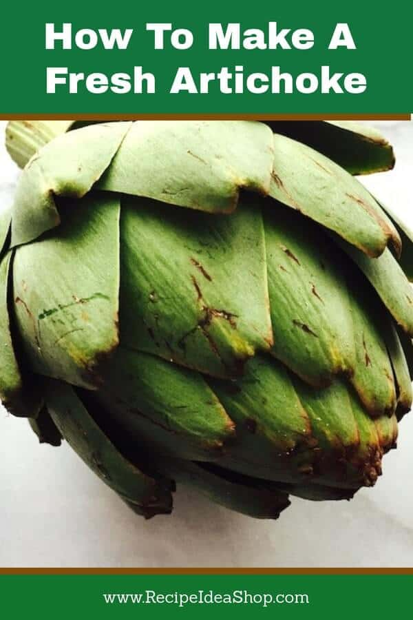 You will feel decadent eating a homemade fresh artichoke. It's easy. #freshartichoke; #eatachoke; #recipes; #howtomake; #howtomakeanartichoke; #recipeideashop