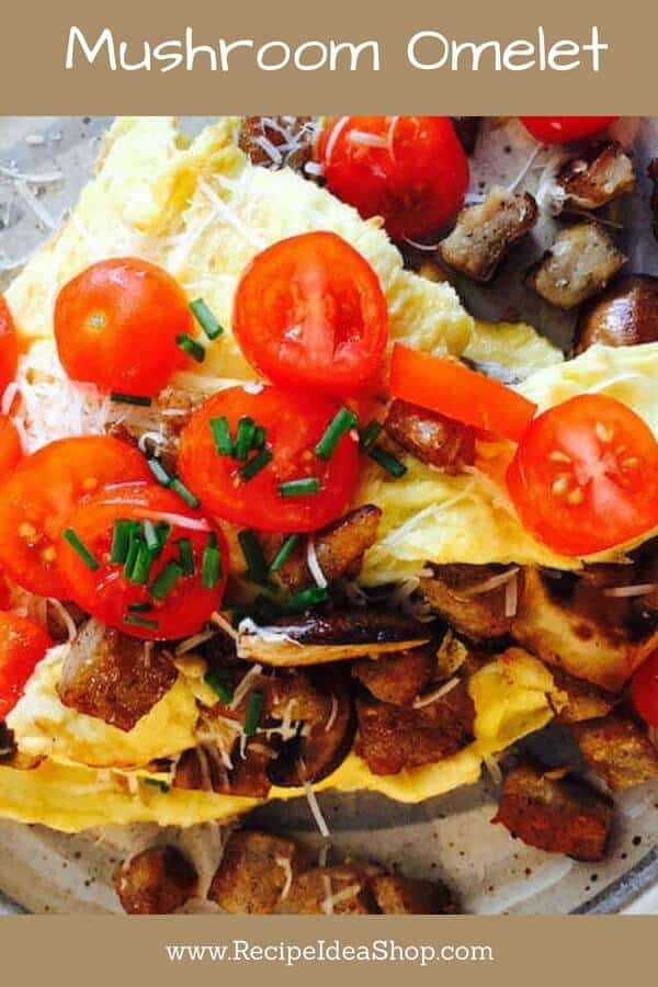 Perfectly cooked mushrooms make a huge difference in taste in this Mushroom Omelet. #mushroomomelet; #omelets; #recipes; #howtomakeanomelet; #recipeideashop