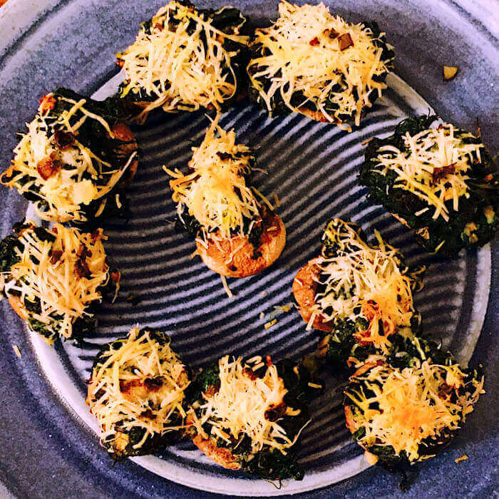 Spinach Stuffed Mushrooms, so delicious.