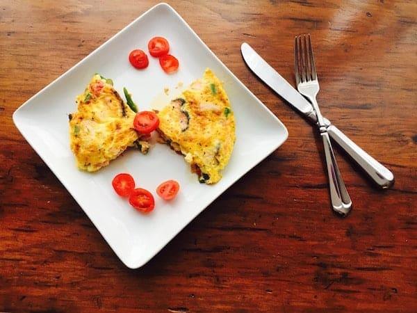 Asparagus Tomato Frittata. Eat while hot!