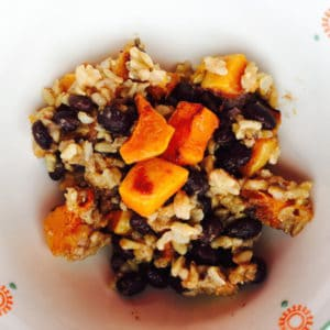 Savory Sweet Roasted Butternut Squash Rice Salad