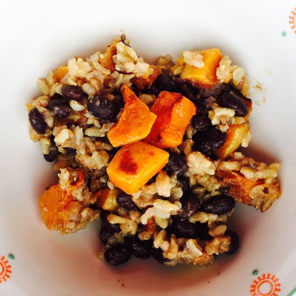 Sweet Savory Roasted Butternut Squash Rice Salad
