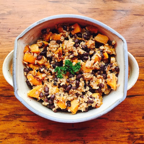 Butternut Squash Rice Salad, a one-pot meal.