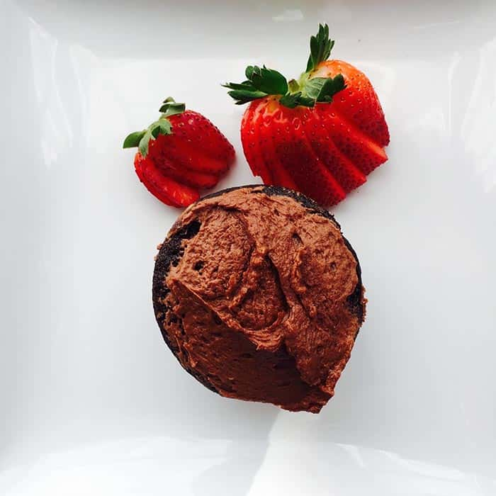 Gluten Free Chocolate Cupcake made with this recipe for Gluten Free Chocolate Cake.