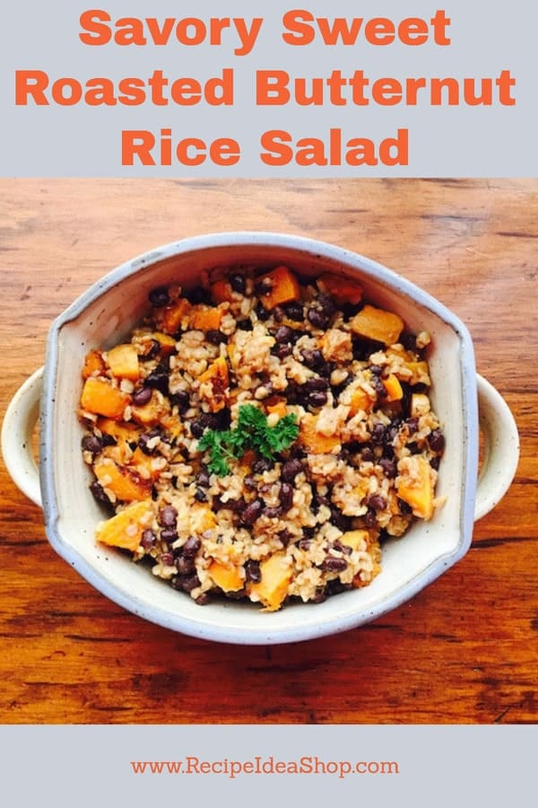 Roasted Butternut Squash Rice Salad. Simple one-pot meal. Delicious. Easy. Filling. Vegan. Gluten free. #roastedbutternutsquashricesalad; #roasted-butternut-squash-rice-salad, #butternutsquashrecipe, #butternut-squash-rice-salad-recipe, #butternut-squash-salad, #recipeideashop
