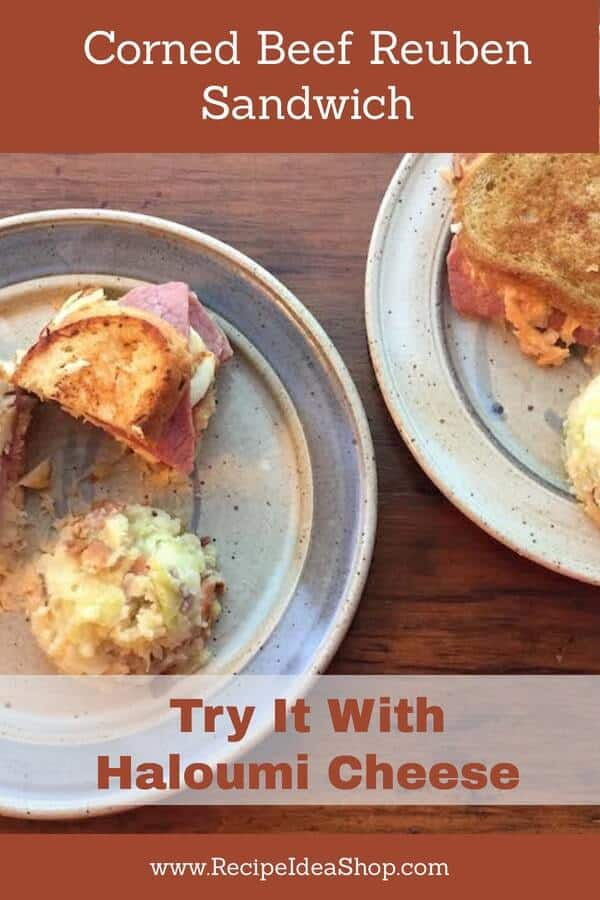 Halloumi Gluten Free Corned Beef Reuben. Super good. Best cheese ever. #halloumiglutenfreecornedbeefsandwich; #halloumicheeserecipes; #cornedbeefsandwich; #glutenfreecornedbeefsandwich; #glutenfree; #recipes; #recipeideashop