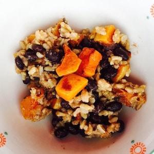 Savory Sweet Roasted Butternut Squash Rice Salad