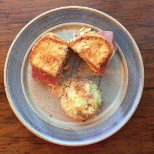 Halloumi Gluten Free Corned Beef Reuben Sandwich