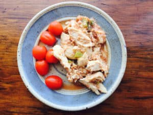 Slow Cooker Shredded Chicken: good over rice or stuffed in a burrito