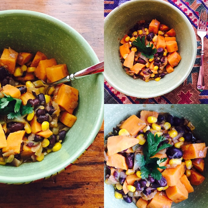 Sweet Potato Black Bean Casserole takes just 35 minutes to make. And YUM!