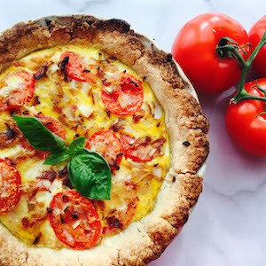 Gluten Free Tomato Basil Quiche