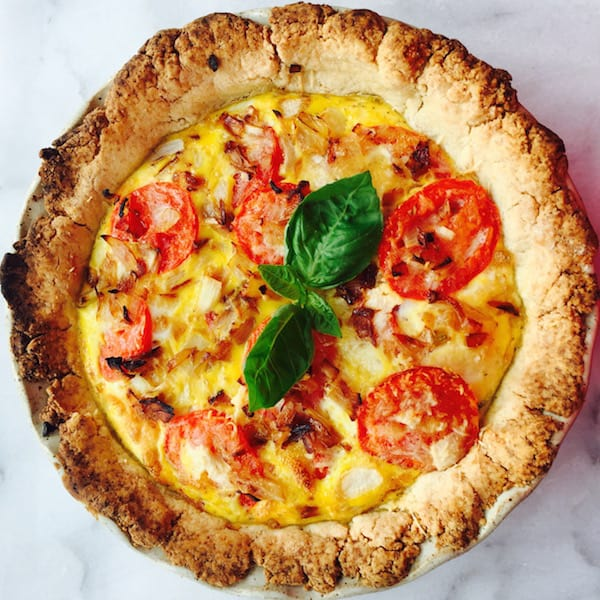 Gluten Free Tomato Basil Quiche impresses the palate.