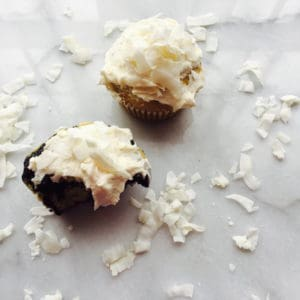 Chocolate Coconut Cupcake and Coconut Cupcake