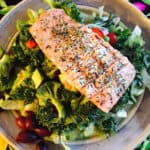 Grilled Herbed Salmon Salad, light and delicious.