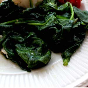 Sauteed Spinach, filled with Vitamin K