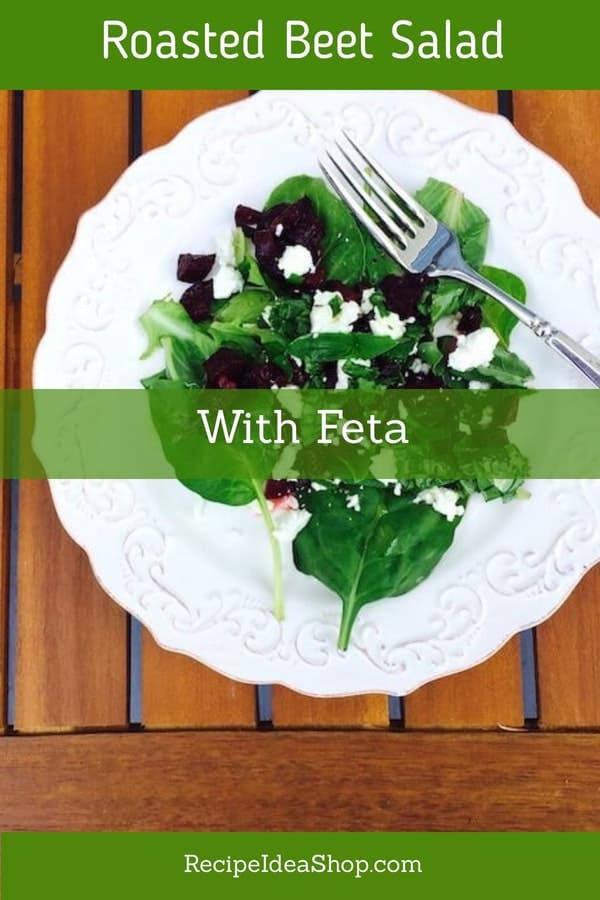 Roasted Beet Salad with Feta. Tasty and SO good for you. #roastedbeetsalad #roastedbeets #saladrecipes #eatyourcolors #eatinseason #glutenfree #recipes #recipeideashop