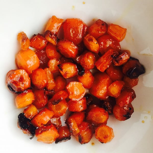 Sweet Roasted Carrots.