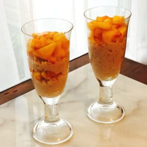 Cinnamon Rice Pudding with Peaches