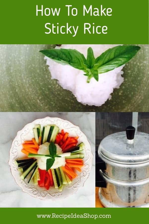 How to Make Sticky Rice. Simple. Start with the right rice. #howtomakestickyrice #makestickyrice #stickyrice #stickyricerecipe #chinesestickyrice #ricerecipes #recipes #glutenfree #recipeideashop