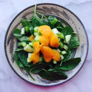 Crunchy Sweet Spinach Salad