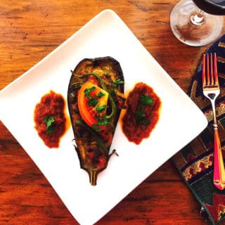 Baked Vegetable Stuffed Eggplant