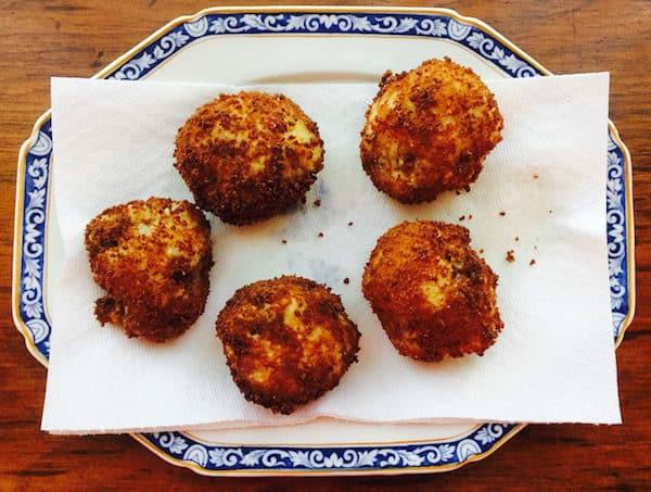 Crispy Sausage Rice Balls