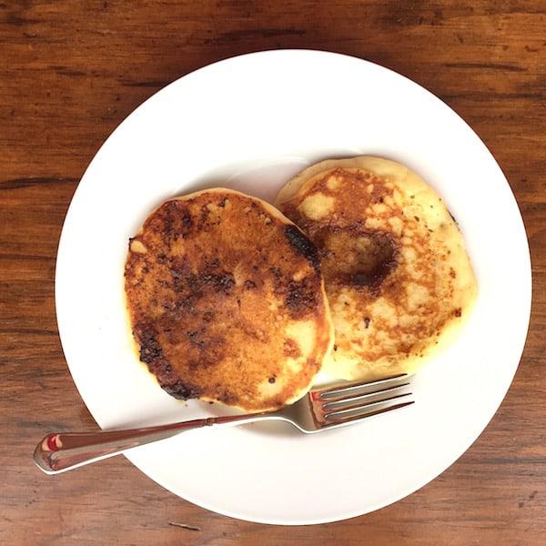 Don's version of Cinnamon Roll Pancakes (no glaze) preceded our Cinna Bon Bon Pancakes.
