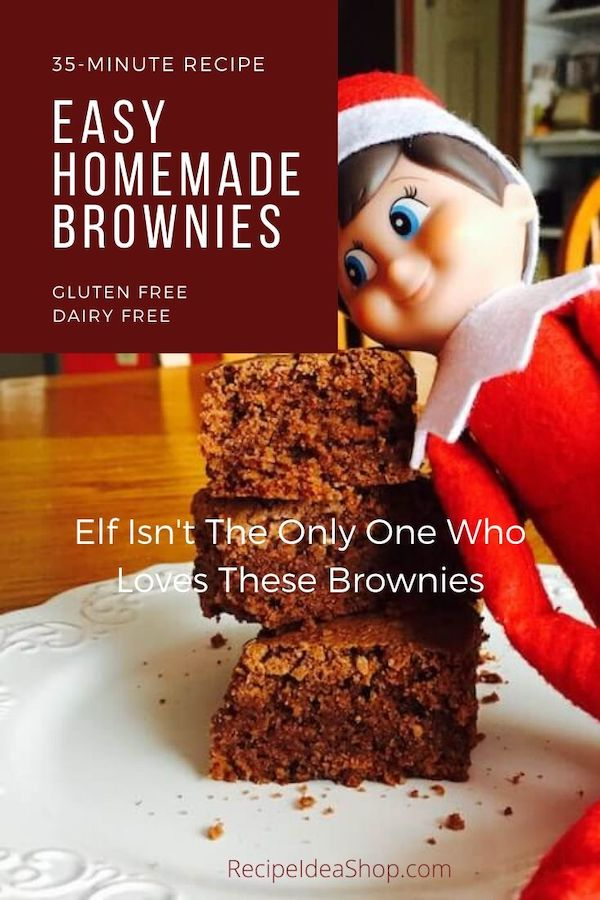 These Easy Brownies (GF DF) are super easy. Dump, mix, bake, eat. Yum. #easybrowniesglutenfreedairyfree #browniesrecipe #homemadebrownies #barcookies #comfortfood #glutenfree #dairyfree #cookies #recipes #recipeideashop