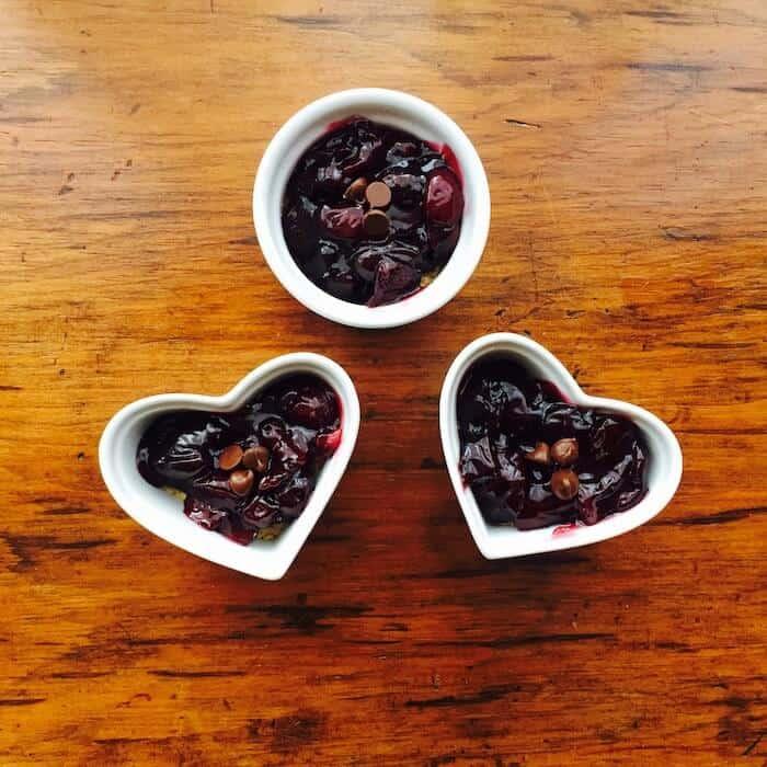 Gluten Free Cherry Tart, simple, individual servings