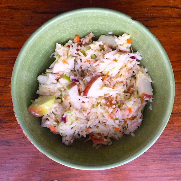 Apple Walnut Coleslaw