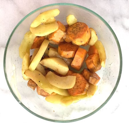 Grilled Spiced Apples and Sweet Potatoes