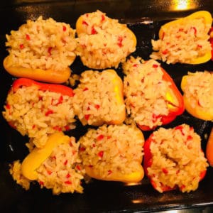 Risotto Stuffed Peppers (Vegan), so creamy and delicious!